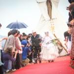 田んぼで結婚式