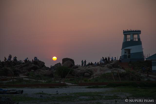 コバーラムビーチの夕日