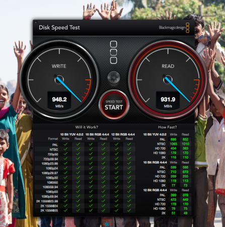 disc speed test mac pro